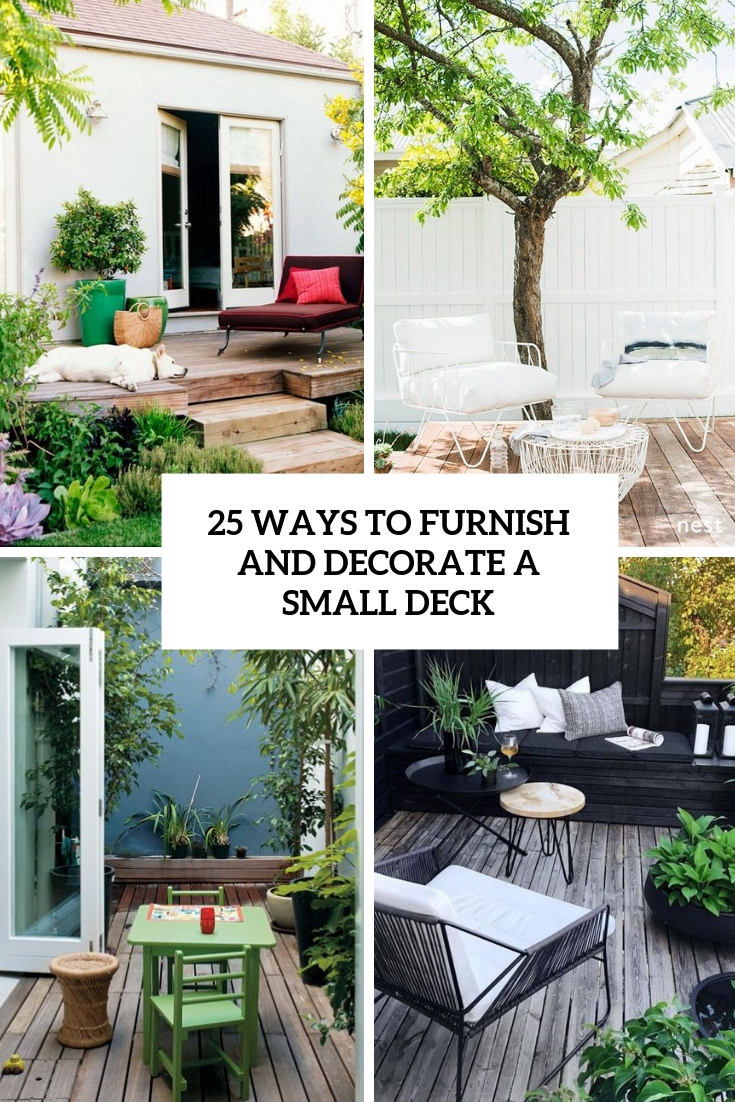 ways to furnish and decorate a small deck cover