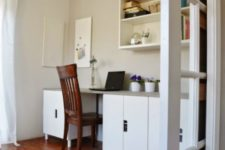 26 DIY desk made of IKEA Stuva units and a concrete countertop for maximal durability and a modern feel
