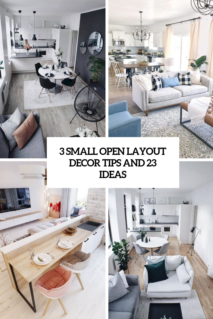 3 Small Open Layout Decor Tips And 23 Ideas Digsdigs
