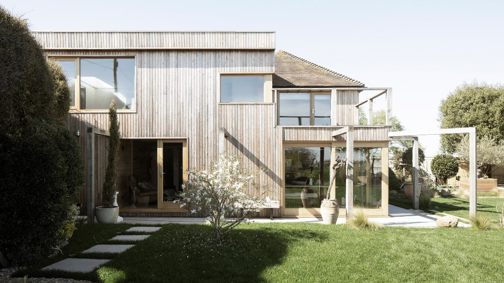 Island Cottage is heritage and it was allowed to build a more contemporary extension to it