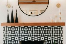 03 bold geometric black and white mosaic tiles make a bold statement with pattern and contrasting colors
