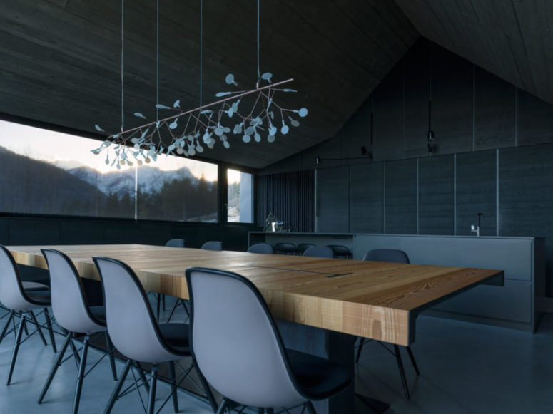 Moody shades and minimalist aesthetics are used to avoid distracting attention from the views