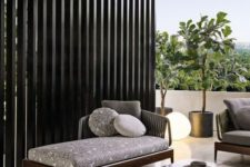 12 a modern dark stained outdoor daybed looks elegant and simple and will work for many outdoor spaces
