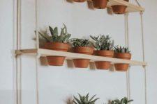 hanging shelves for a vertical garden
