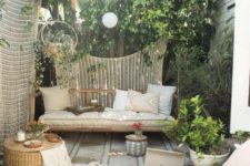 16 a rattan outdoor daybed under a tree to avoid much sunshine is a perfect fit for a neutral boho zone