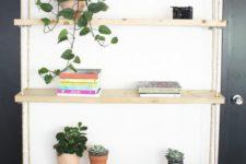 practical shelves for an awkward nook