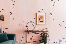 21 add color and pattern to your retro space with cool wallpaper like here and add a matching piece of furniture