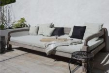 23 an elegant daybed of wood with chic and pure aesthetics will fit many spaces and can be even DIYed