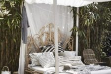 24 an exquisite carved wooden daybed with a canopy is amazing for a tropical or boho retreat