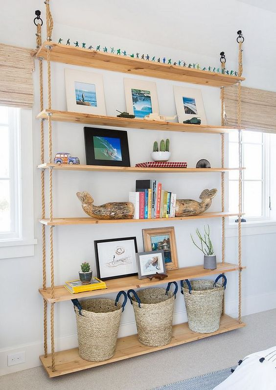 25 Hanging Shelves Ideas In Various Styles Digsdigs