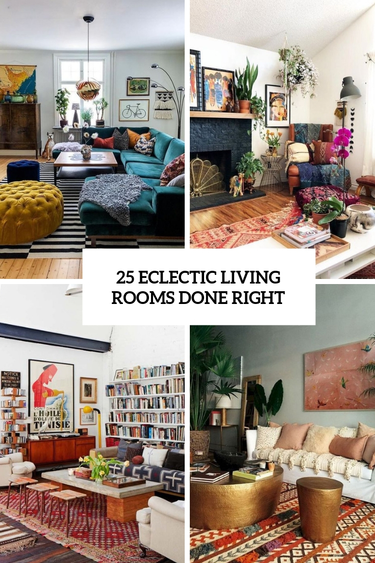eclectic living rooms done right cover