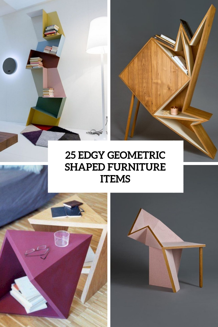 edgy geometric shaped furniture items cover