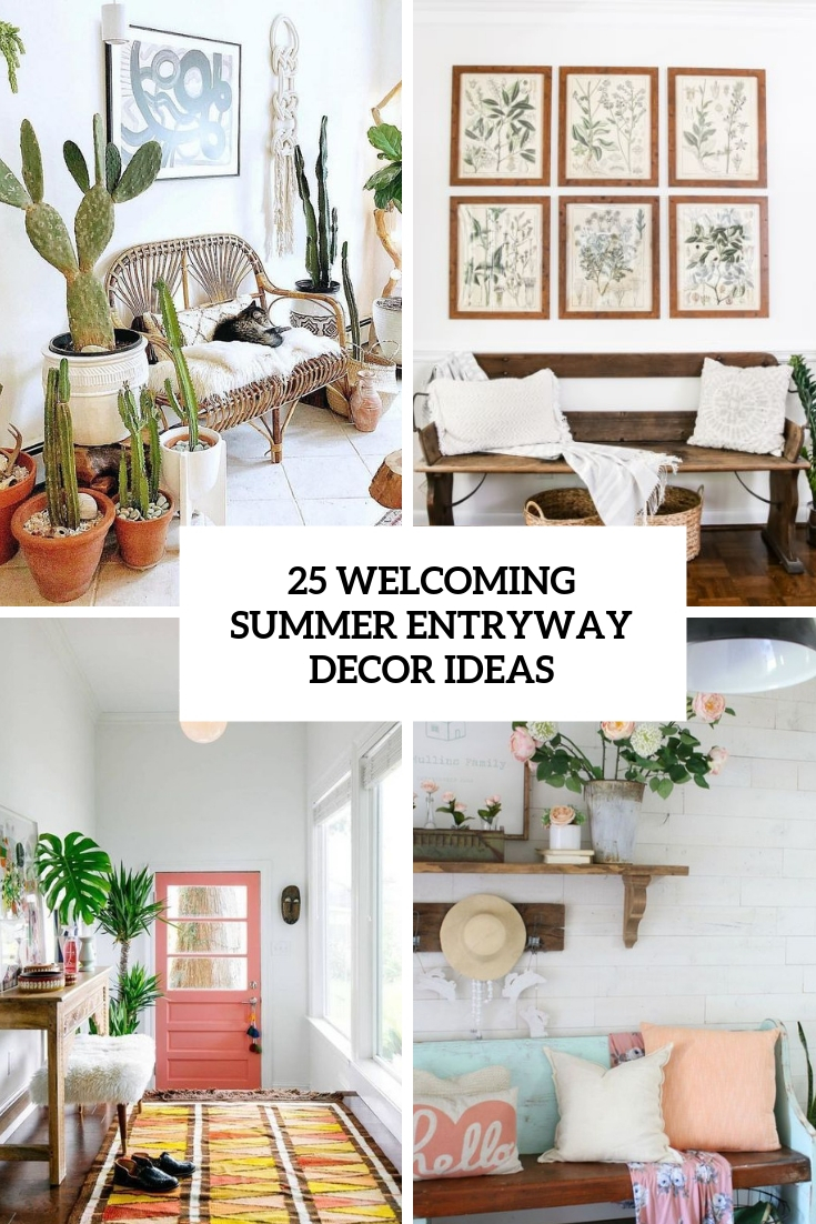 25 Welcoming Summer Entryway Décor Ideas