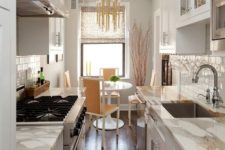 a small but welcoming kitchen design