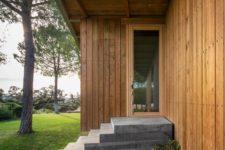 a perfect lawn is a must for a timber home