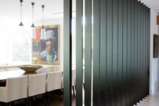 02 dark wooden slats can be a nice room divider as they let light in and look contemporary and chic