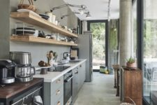 a cool industrial kitchen design