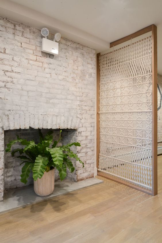 such a beautiful macrame screen will be a nice sheer divider and an accent in your boho chic space