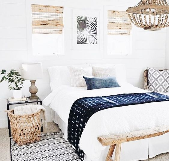 you may also add colors and patterns with blankets and pillows, brign texture with them