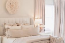 15 blush, dusty pink and white are amazing to make your bed look very soothing and welcoming
