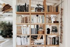 15 simple open shelving will subtly separate the spaces and provide you with storage