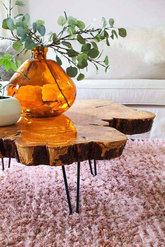 an amazing live edge coffee table with black hairpin legs is a chic and stylish idea to rock