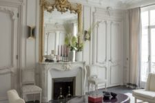 16 molding on the walls, doors, ceiling trim and even to highlight the fireplace is a very elegant option