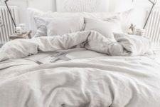 17 add instant coziness to your bedroom with pure linen bedding in light gray, it's perfect for most of bedroom styles