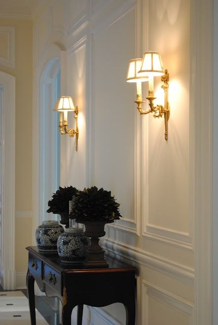 super elegant gilded vintage wall sconces are amazing for finishing off a beautiful refined hallway