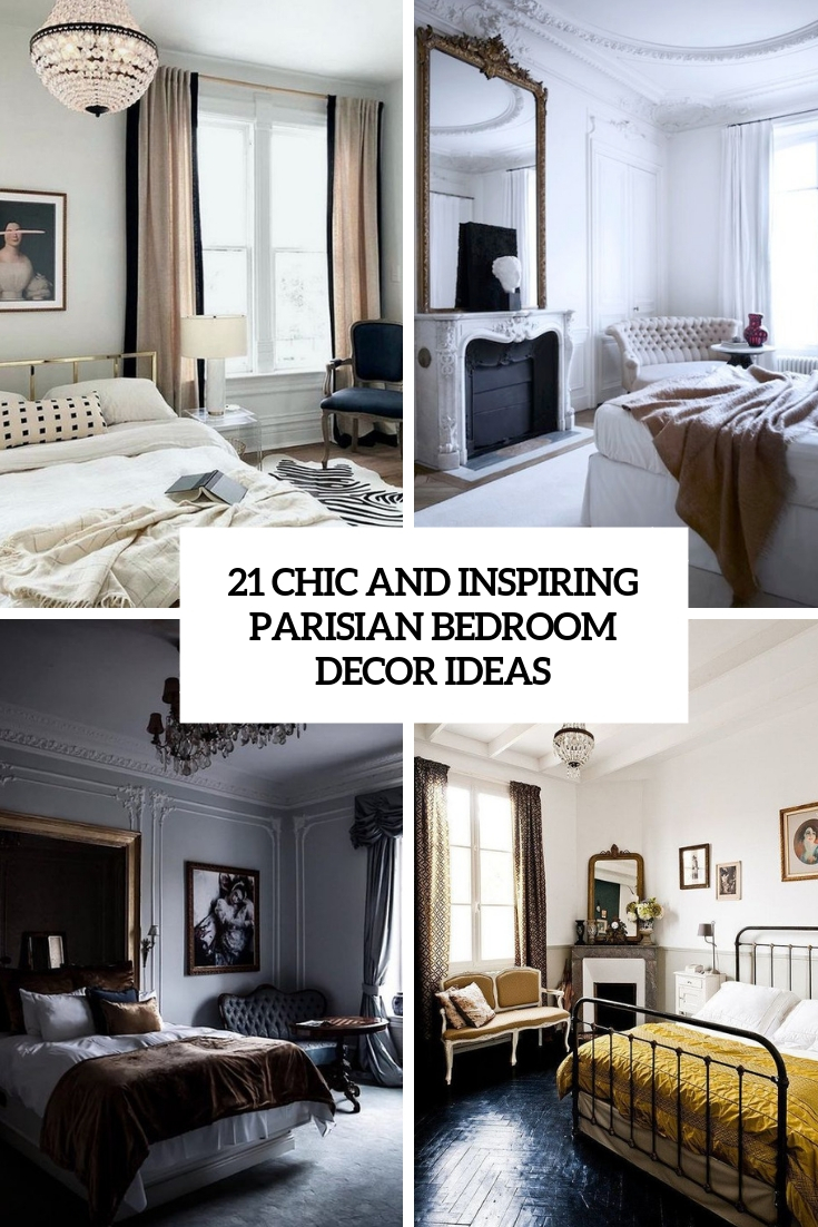 chic and inspiring parisian bedroom decor ideas cover