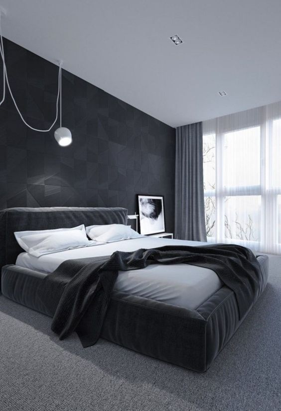 a minimalist bedroom design in a timeless color scheme