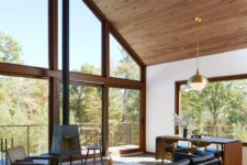 01 This beautiful mid-century modern home combines Japanese, Danish and American mid-century modern aesthetics in one