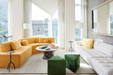01 This luxurious and refined apartment was created for a couple who wanted to enjoy the views and entertain