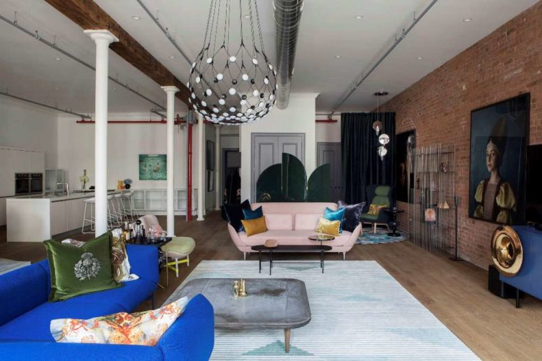 This really unique New York loft shows off the personalities of its owners and a large collection of art