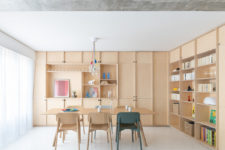 01 This stylish and laconic contemporary flat was designed for a young family with a child and a cat