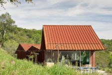 01 Triple Barn residence is a unique home, which consists of three volumes under gabled roofs that are connected to each other