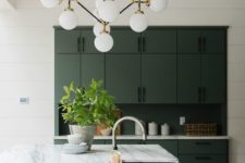 02 a statement mid-century modern bubble chandelier is a cool idea to add timeless elegance and much light to the kitchen