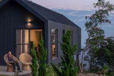 a cool terrace design for a mountain home