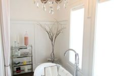 04 a refined and elegant crystal chandelier will make your bathroom super beautiful and stunning