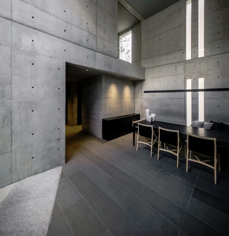 The interiors are ultra-minimalist, which is a trendy feature in Japan now, the furniture is simple and sleek