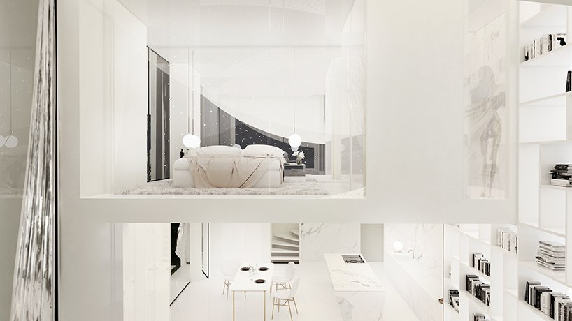 The house is really unique, both inside and outside and white guarantees that it's bright and fresh