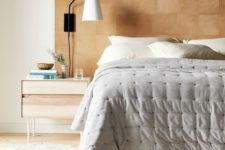 08 a stylish leather square headboard is a chic and warmign up idea that can be easily DIYed by you