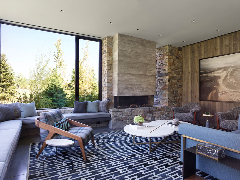 Wood and stone integrated into home decor give it a rustic and cozy feel