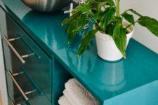 09 get a bold bathroom vanity plus a sink of an Ikea Rast 3-drawer chest, a Blanda blank serving bowl, a Dalksar faucet