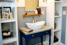 10 two Ikea Kallax shelving units are used as effective and comfy open storage units are amazing for every bathroom