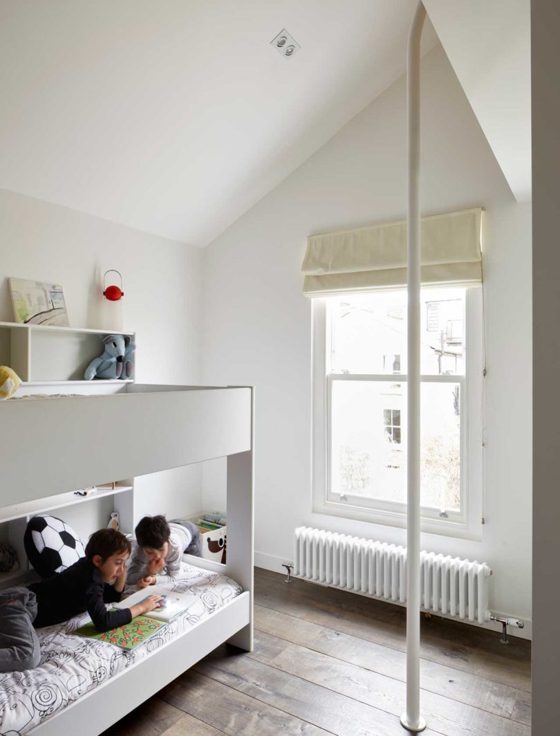 The second room is filled with light and also features bunk beds to sleep wherever the kids want