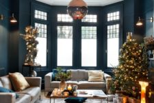 12 a statement colored glass pendant lamp is accented with a ceiling medallion even more