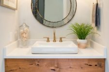 13 pendant lights over the vanity are a timeless idea for every bathroom, choose those that match the style