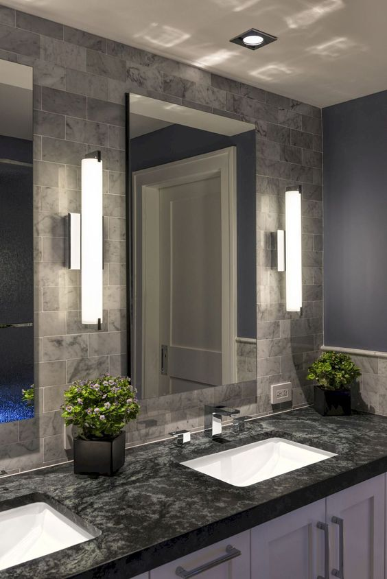 wall lights won't take much space and will illuminate your vanity space in an appropriate way