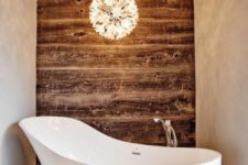 18 a cool modern pendant lamp resembling flowers will accent your bathtub and make the space cooler